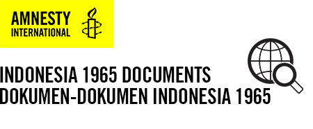 Indonesia Documents 1965 Amnesty International